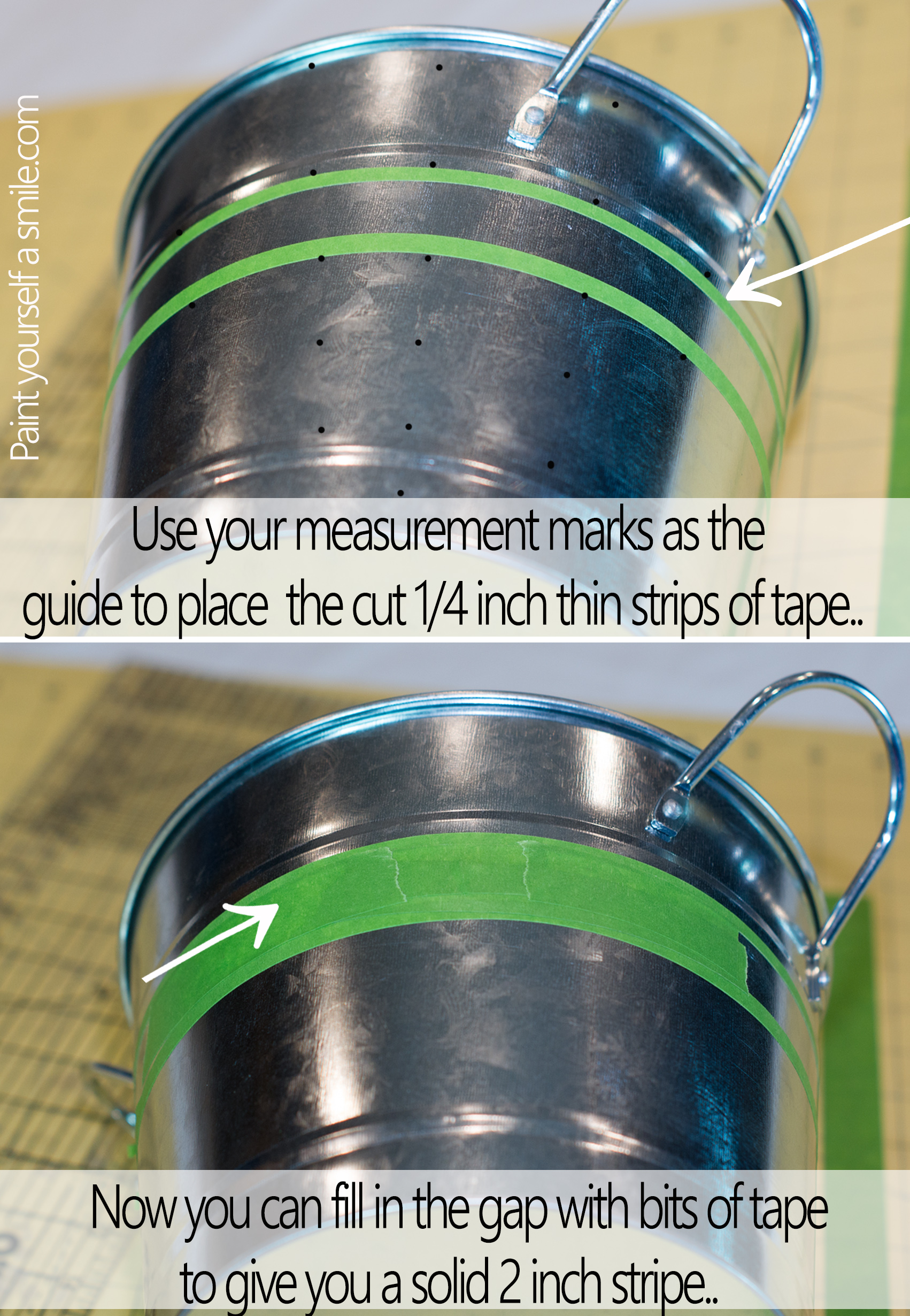 How to tape a straight line on a curved surface