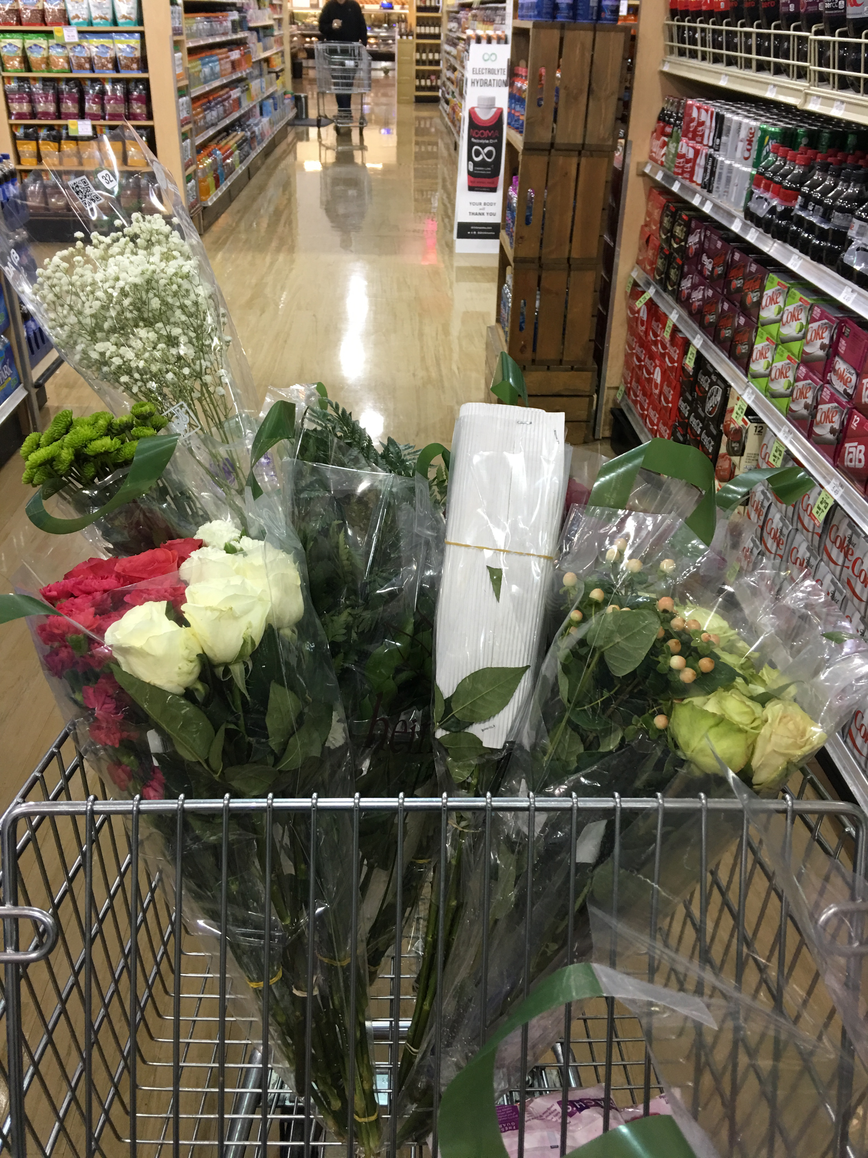 grocery shooping for flowers