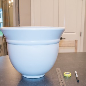 DIY Planter makeover with paint. Plus tips for taping a curved surface