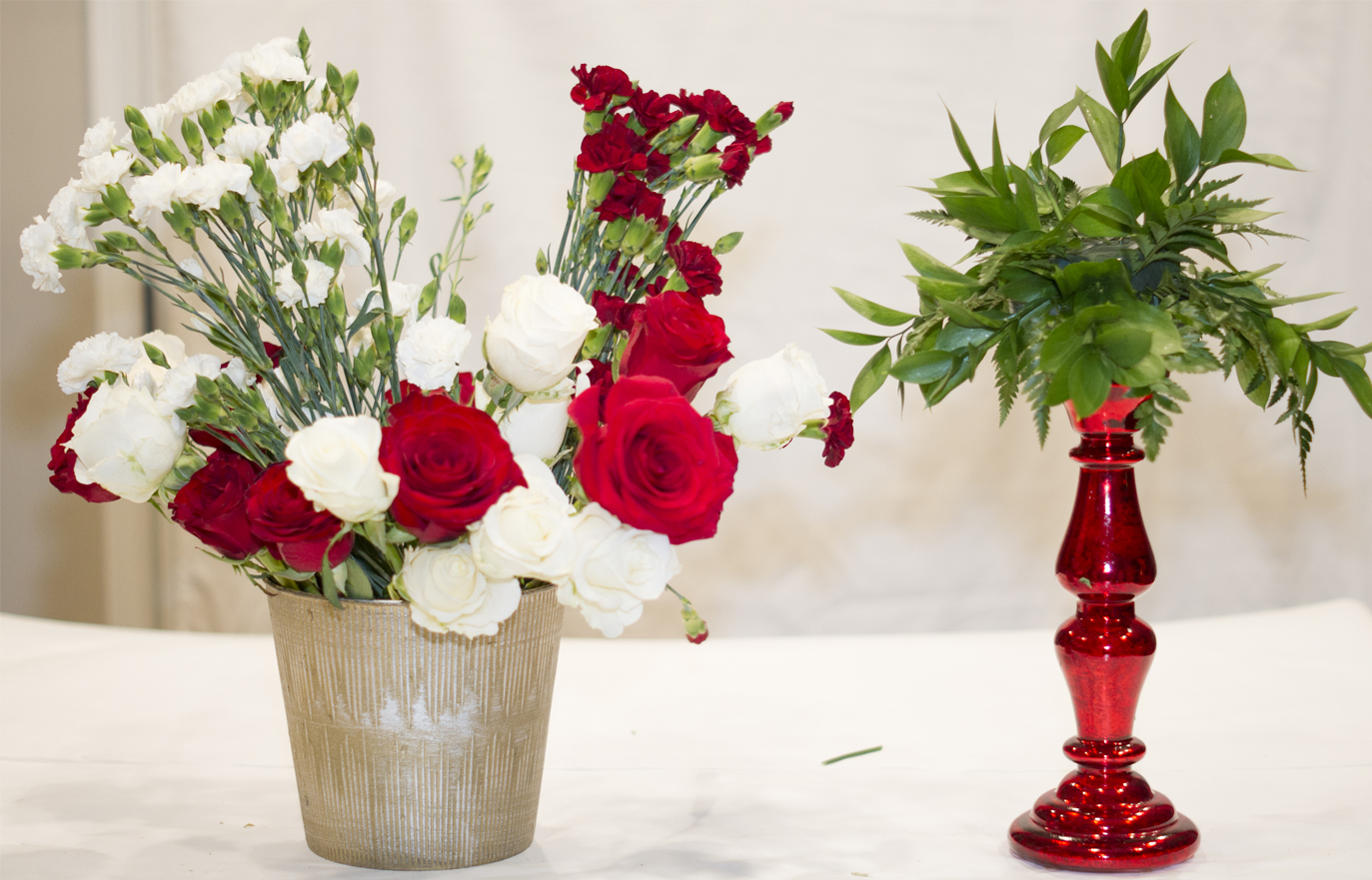 How to create candlestick floral centerpiece