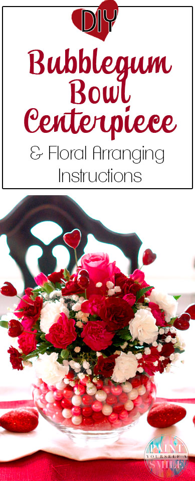 Fabulous step by step instructions!!! Make your own floral arrangements from flowers at your local grocery store.  DIY Bubblegum Bowl Floral Centerpiece