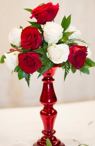 Valentines floral Centerpiece