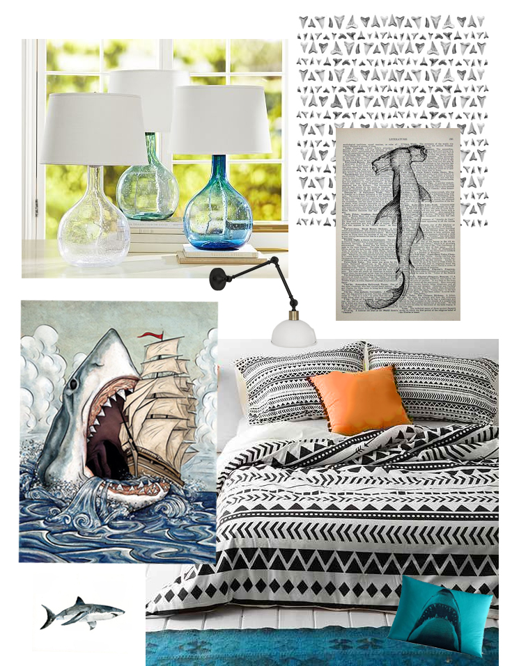 one room challenge April 2016 Teen boy room makeover mood board