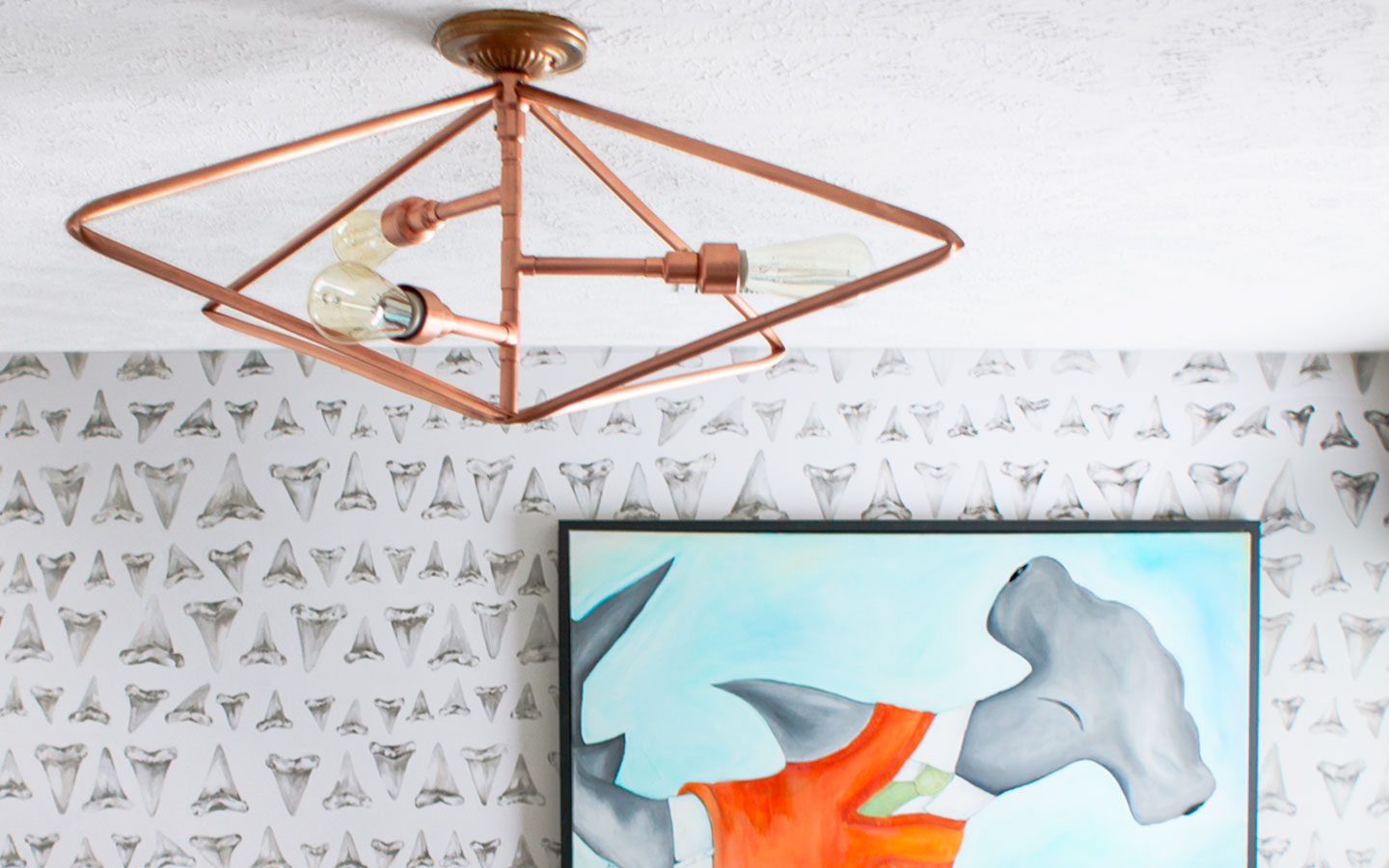 Fabulous DIY Nautical Shark Theme Bedroom Makeover With Lots Of Ideas Copper Pipe