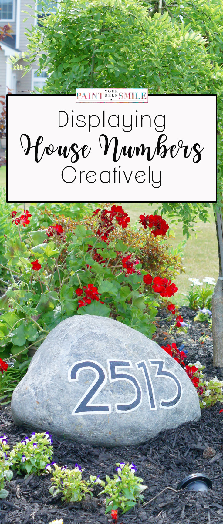 Make your house address more visible by adding  house numbers in your Landscape.  This project is part of the 5 week Curb Appeal Challenge.