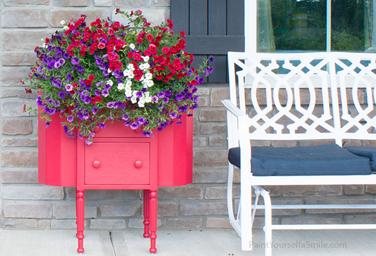 Easy Upcycled Porch Planter