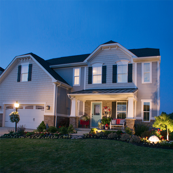 Landscape lighting, porch décor and the final reveal of the 5 week curb appeal challenge.