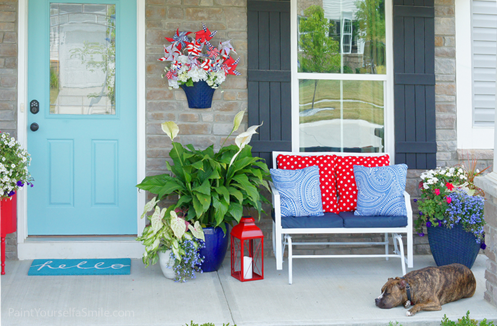 Porch decor and final reveal of the 5 week curb appeal challenge.