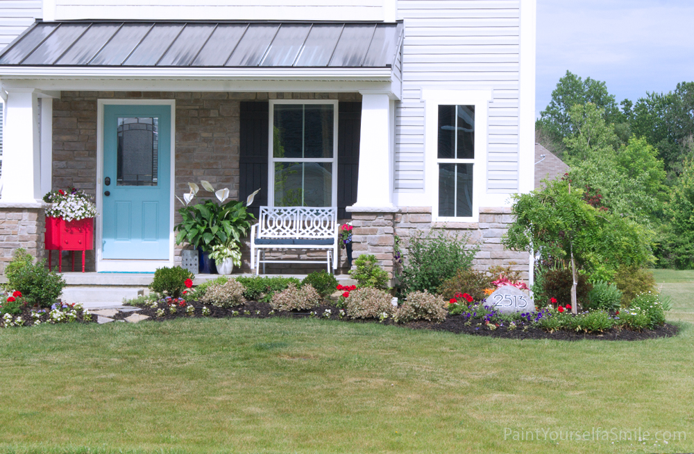 Make your house address more visible by adding your house numbers in your Landscape. This project is part of the 5 week Curb Appeal Challenge.