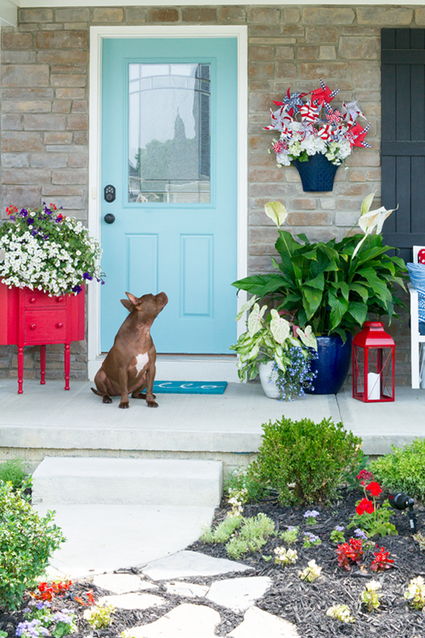 Get ready for sring and summer with these great ideas. Porch Décor, Landscape lighting & Final reveal of the 5 week curb appeal challenge with links to all the tutorials
