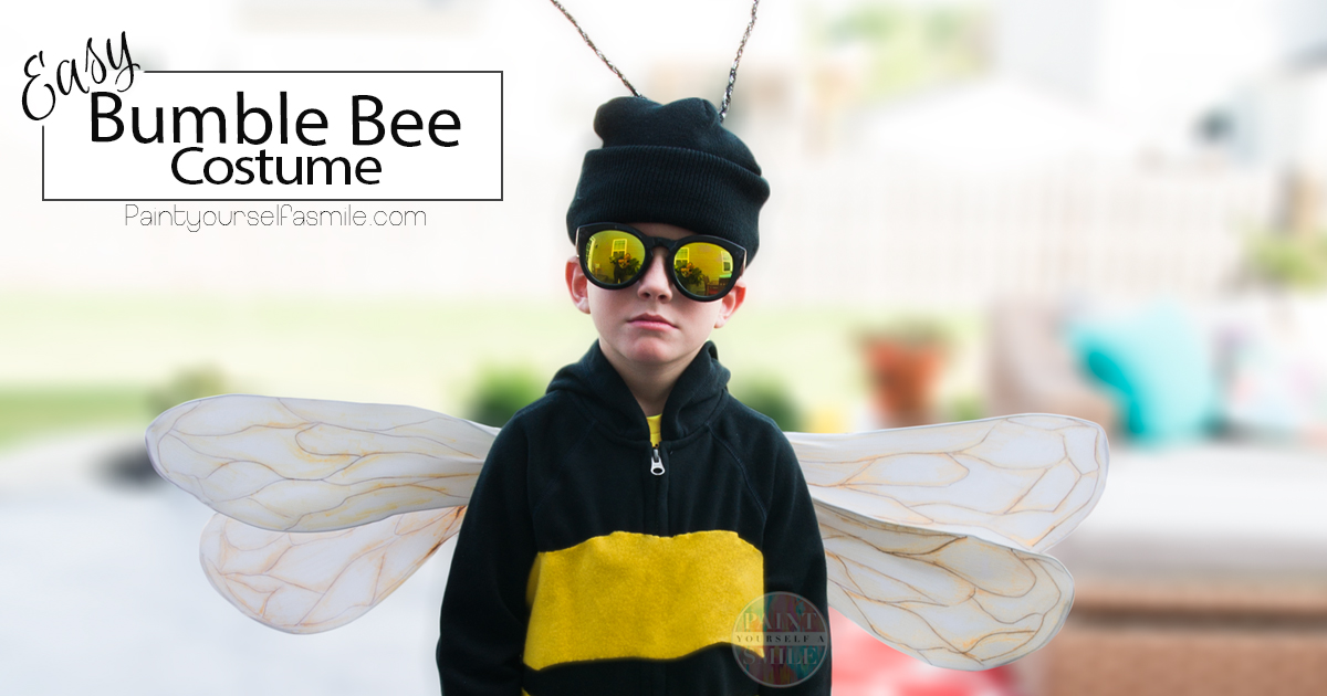 Easy bumble bee costume paint yourself a smile solutioingenieria Choice Image