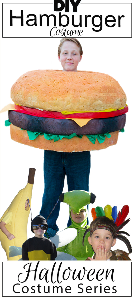 diy hamburger costume tutorial from the homemade halloween costume series at paintyourselfasmilecom