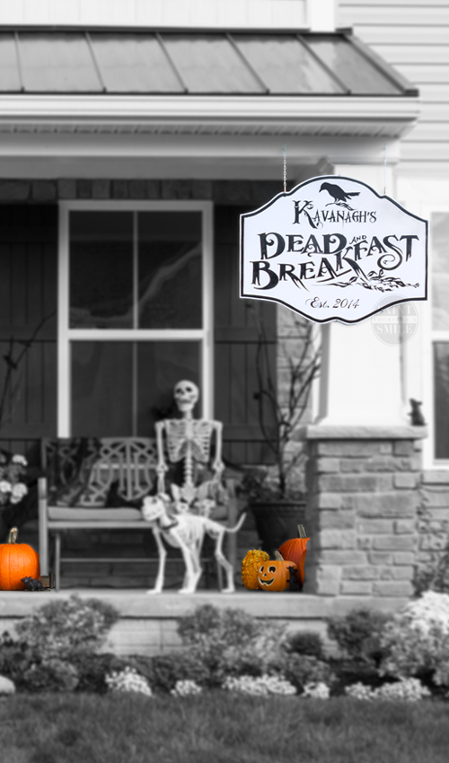 Check out this super fun tutorial to make your own DEAD and Breakfast sign for Halloween. Along with this tutorial are 7 more Halloween Projects as part of the No Place like Home Halloween Blog hop!