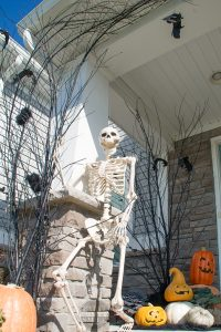 So many fun Halloween ideas that would be easy to do. Spooky branches, fun skeletons and fabulous planters!