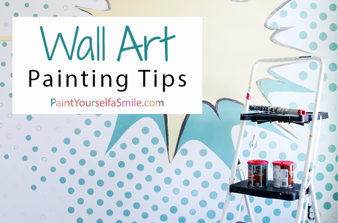 Tips and tricks this artist uses to create beautiful murals and wall art