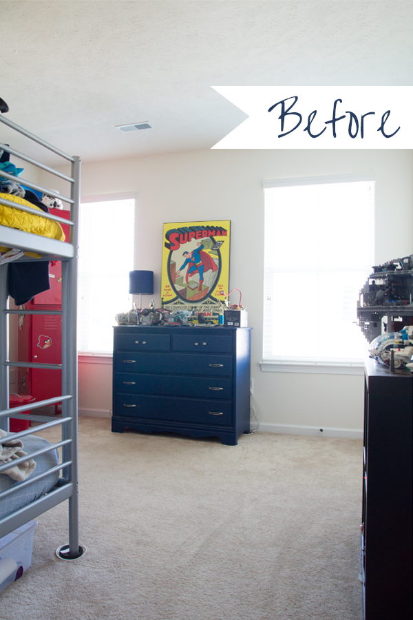 Modern Pop Art Teen boy bedroom made-over in 5 weeks. Follow along week by week as this DIY blogger works through this room piece by piece totally transforming it!