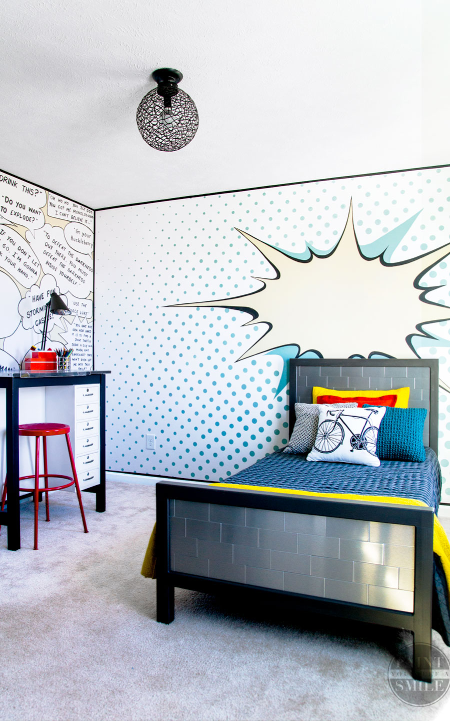 Pop Art Bedroom Make Over Reveal - Paint Yourself A Smile