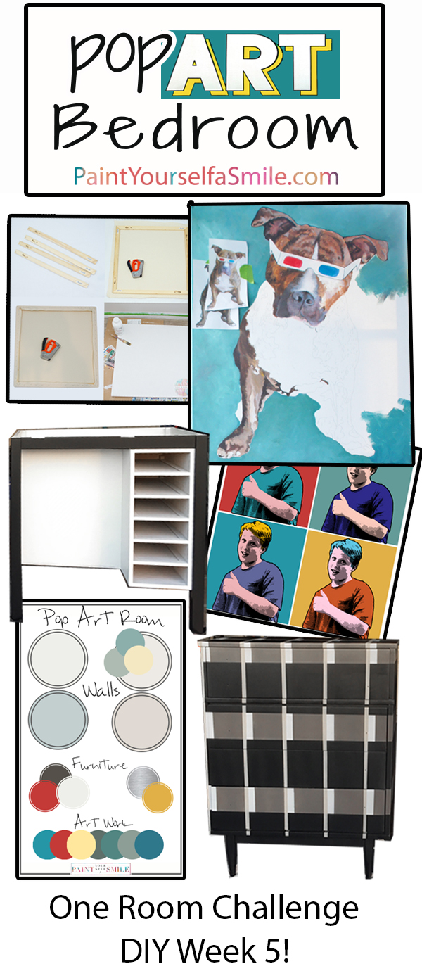 Lots of out of the box ideas for a great kids room. DIY Pop Art Bedroom