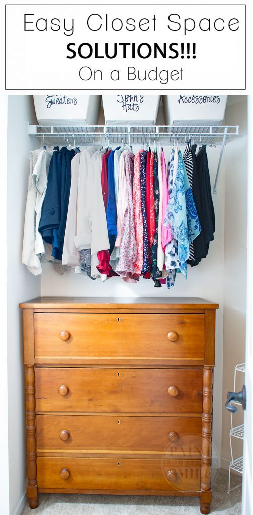 Great inexpensive tips & ideas to make the most of my closet....Maximize Your Closet Space on a Budget