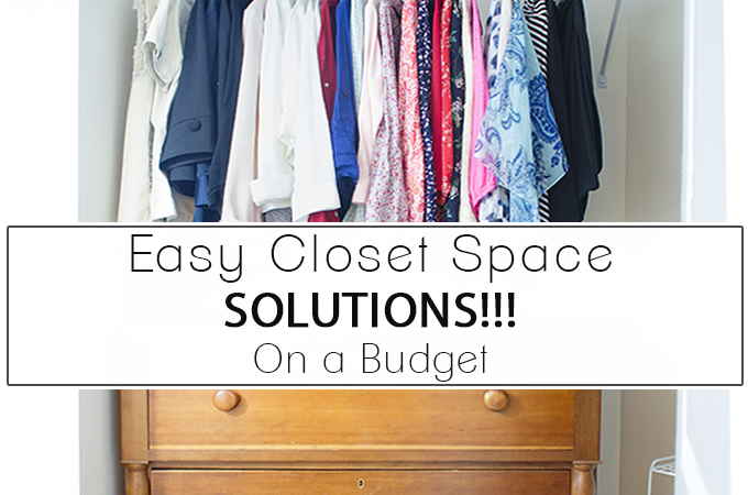 Easy Closet Space Solutions on a Budget