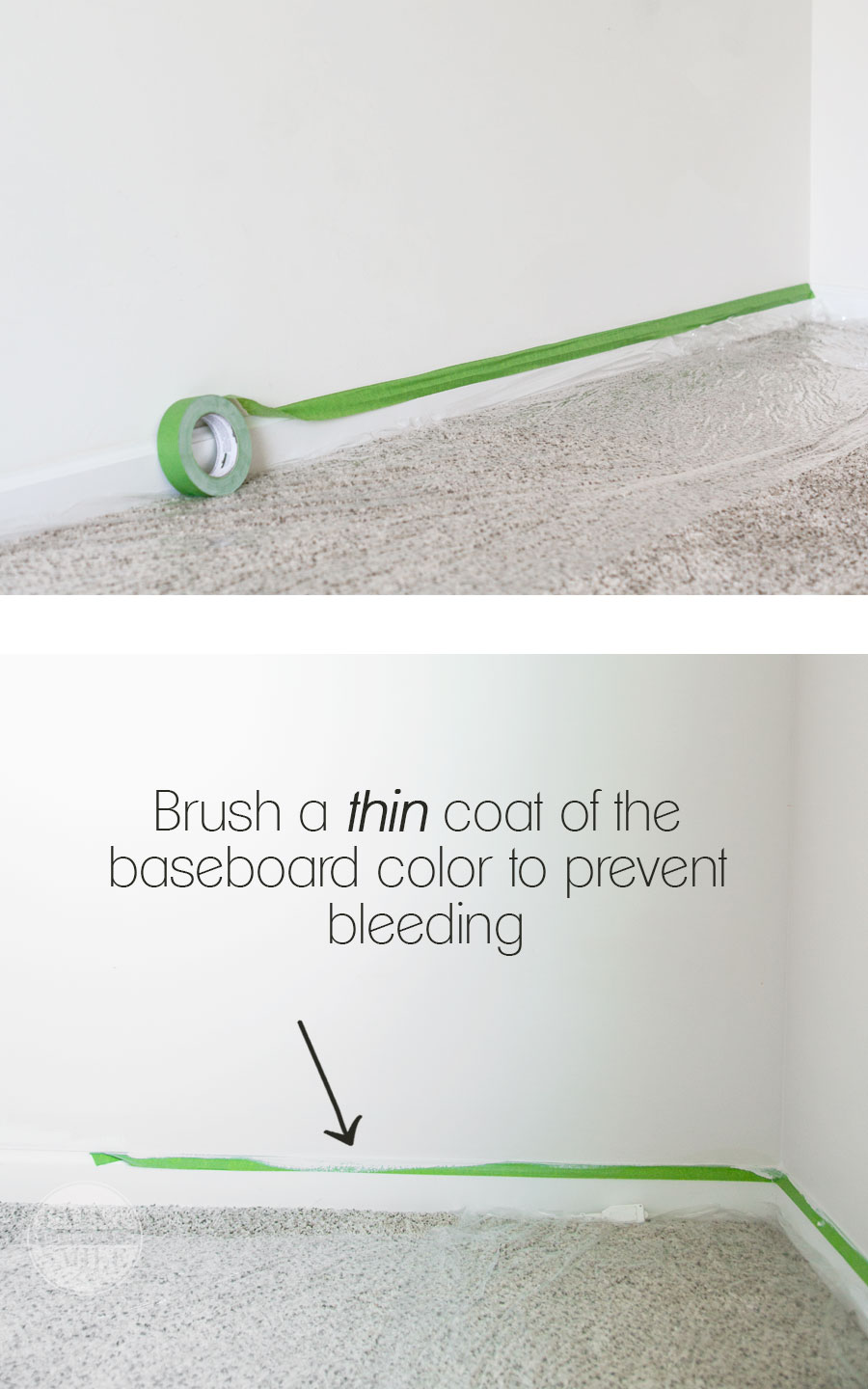 How to get bleed free flawless results with painters tape and step by step instructions to quickly transform a room with paint.