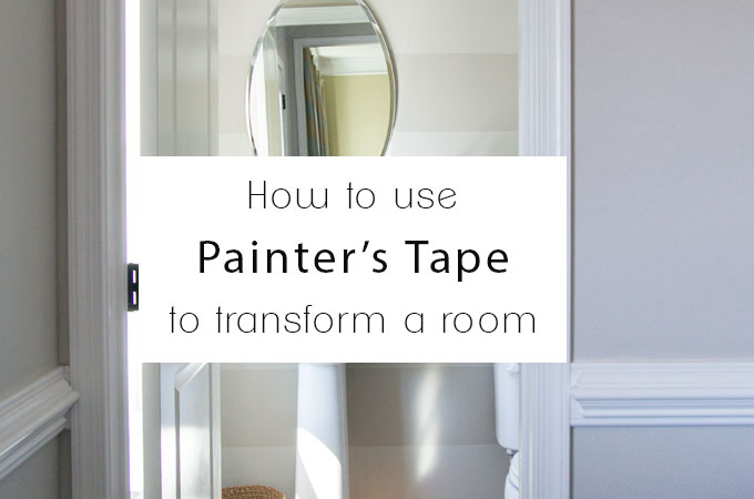 How to use Painter's Tape to Transform a Room