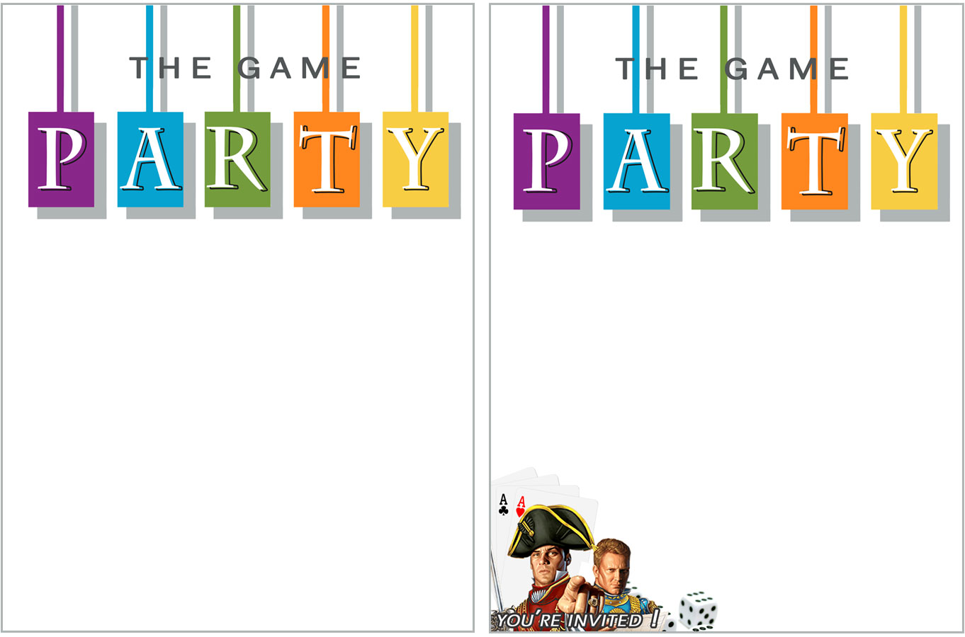 Awesome Free printable game party Invite! DIY Game Night Party Ideas and free invitation download.