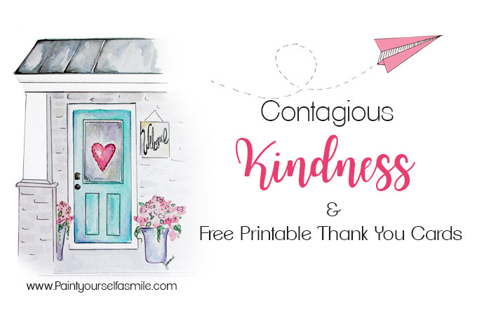 Contagious Kindness Tags & Free Printable Thank You Cards