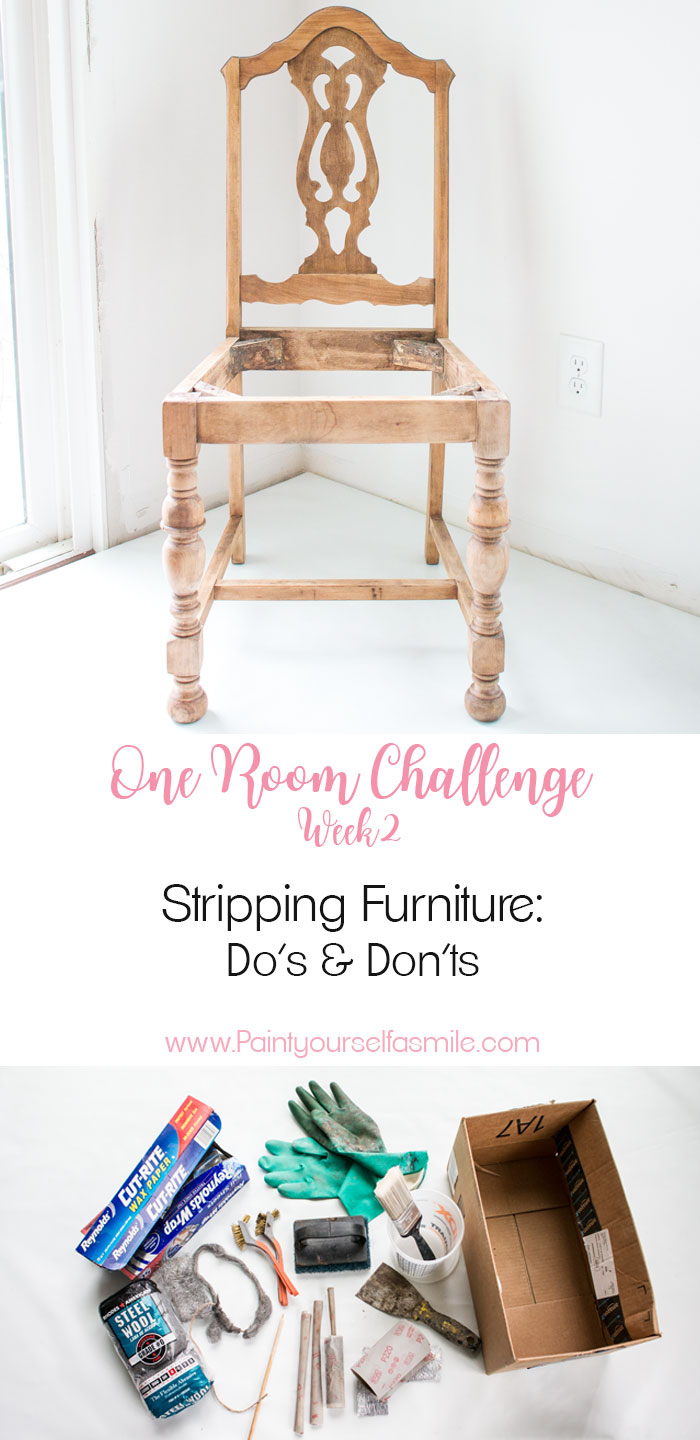 What kind of strippers really work and tips and tricks I use stripping furniture to create gorgeous furniture pieces. Week 2 One Room Challenge.