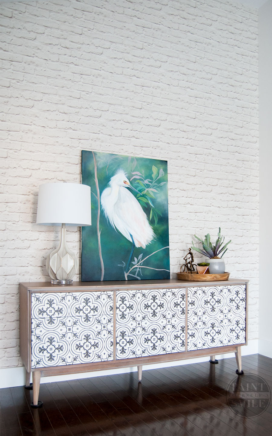 "White brick wallpaper! How to hang ""paste the wall"" wallpaper & the big mistake I made."
