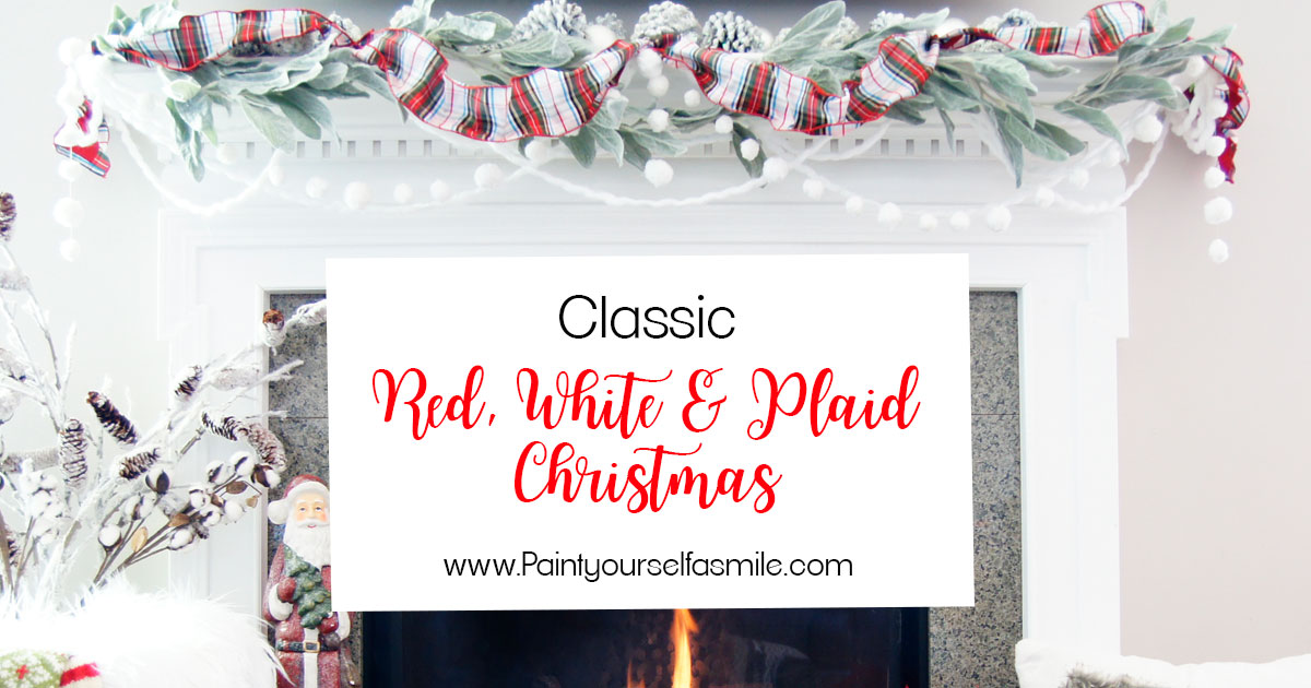 Classic Red White Amp Plaid Christmas Decorations Paint