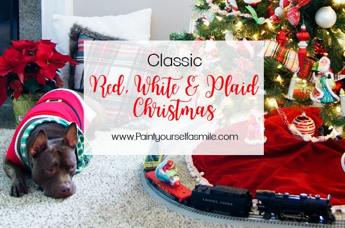 lassic budget friendly red & white plaid Christmas décor from Paint Yourself a Smile Christmas Home Tour.