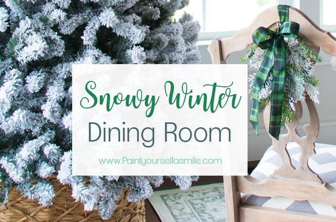 Snowy Winter Dining Room