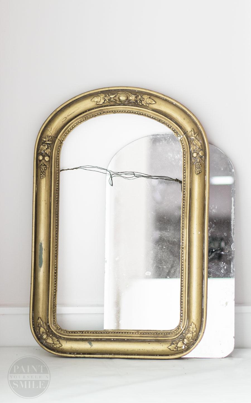 Inexpensive lighting & mirror options to make over a bathroom on less than $100. #$100 challenge
