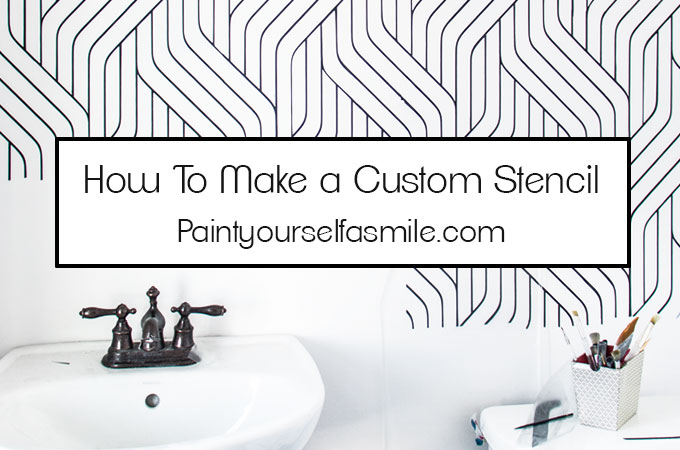 It's simple to make your own stencils. Today I'm sharing instructions, stencil tips and tools to make a custom stencil for any project.