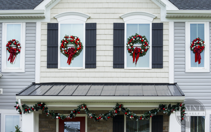 DIY Christmas Window Wreaths