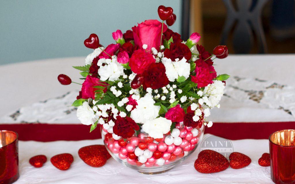 DIY Bubblegum Bowl Floral Centerpiece