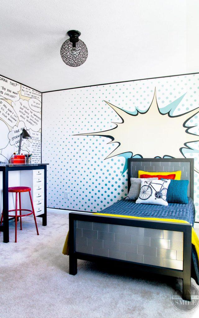 Pop Art Bedroom Make Over Reveal