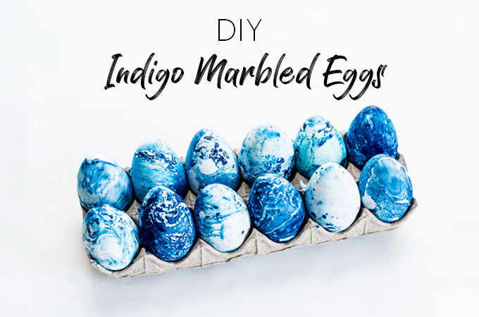 DIY Indigo Marbled Eggs