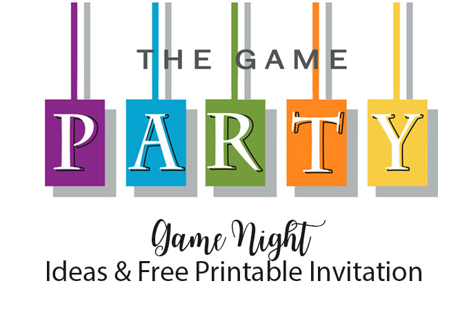 game party Invite and ideas! DIY Game Night Party Ideas and free invitation download.