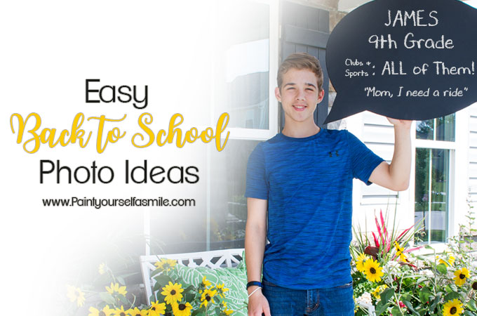 Quick and Easy back to school photo idea