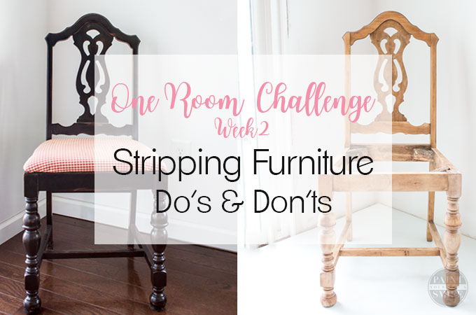 Stripping Furniture: Do's, Dont's and Week 2