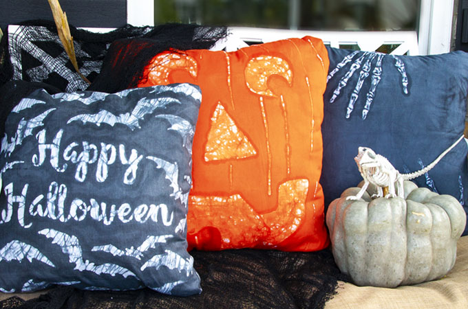 DIY Batik Halloween Pillows
